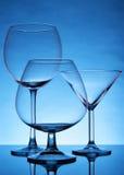 仍然空的玻璃寿命 库存照片