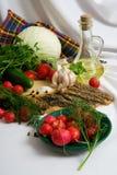 仍然食物生活素食主义者 库存照片