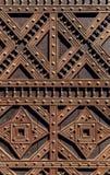 从一个华丽教会门的细节 免版税库存照片