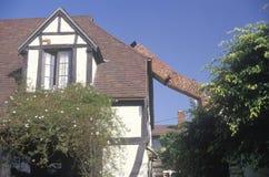 从一个损坏的房子的一个烟囱 免版税图库摄影