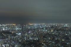 从一个的射击高层建筑物在东京 库存图片