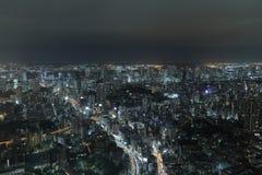 从一个的射击高层建筑物在东京 图库摄影