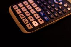 从一个科学计算器的键盘减去钥匙 库存照片