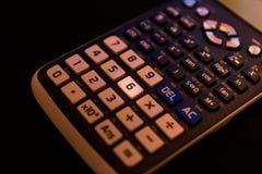 从一个科学计算器的键盘的关键第六 库存图片