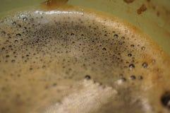 从一些好的咖啡泡沫的宏观射击 库存图片