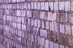 从一座历史的铁路桥的老砖结构背景 免版税库存照片