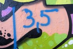 从一张现代街道画的细节 免版税图库摄影