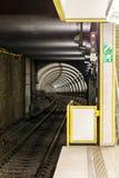 从一条被盖的铁路轨道的平台的看法 图库摄影
