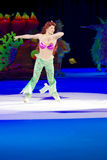 从一点美人鱼滑冰的Ariel 免版税库存图片