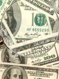 从一百个大型装配架的货币背景 免版税图库摄影
