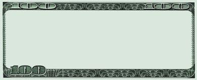 从一百美元笔记的框架 库存图片