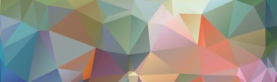 从三角的多色横幅背景,网的倒栽跳水 免版税库存照片