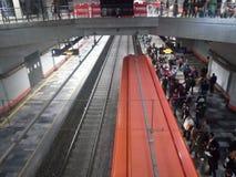 从上流的地铁 库存照片