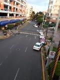 从上流的街道 库存图片