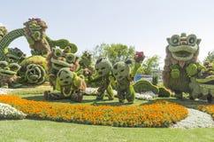 从上海:九头狮子的快乐的庆祝 免版税库存图片