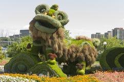 从上海:九头狮子的快乐的庆祝 免版税库存照片