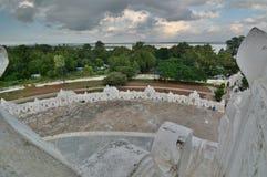 从上部大阳台的看法 Hsinbyume塔 Mingun 实皆地区 缅甸 库存照片