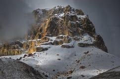 从上部Shimshal的山峰 喀喇昆仑山脉喜马拉雅山 巴基斯坦 免版税库存图片