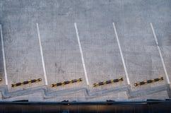 从上面四个停车场,空的停车处 免版税图库摄影