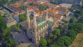 从上面的大教堂教会,雅加达 印度尼西亚 库存图片