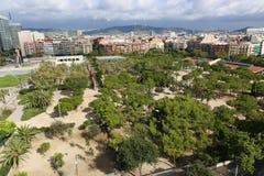 从上面的巴塞罗那 免版税图库摄影