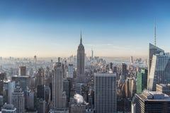 从上面看的纽约地平线 库存图片