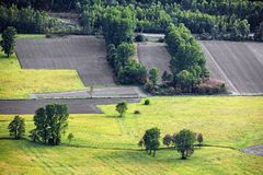 从上面被看见的乡下 免版税库存照片