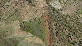从上面被看见的小山和山 影视素材