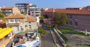 从专科和波摩莱的顶端老镇的看法在保加利亚 库存照片