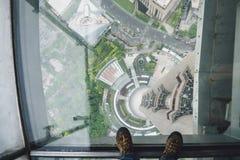 从东方珍珠大厦的上海视图 库存图片