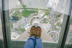 从东方珍珠大厦的上海视图 免版税库存图片