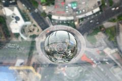 从东方珍珠大厦的上海视图 免版税图库摄影