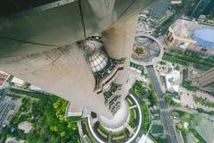 从东方珍珠大厦的上海视图 库存照片