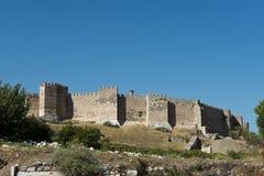 从中世纪的老中世纪堡垒城堡 库存图片