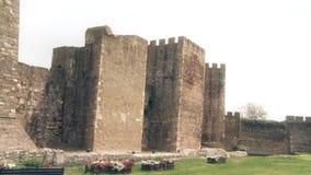 从中古、城楼和大墙壁的老堡垒 股票视频