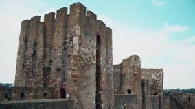 从中古的老堡垒,三座城楼 股票视频