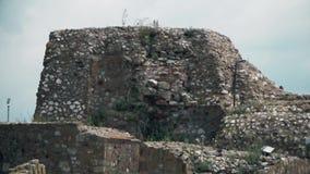 从中古的老堡垒,城楼 影视素材