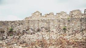 从中古的老堡垒,堡垒墙壁 股票录像