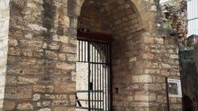 从中古的老堡垒,大门 影视素材
