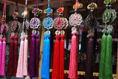 从中国,与缨子的幸运的魅力结的纪念品 免版税库存照片