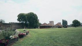 从中间年龄的老堡垒,一个被安排的围场 股票录像