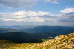 从乌克兰的高山的看法 库存图片