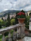 从乡下罗马城堡山景 免版税库存照片