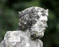 从事园艺博物馆雕象威尼斯式vizcaya 图库摄影