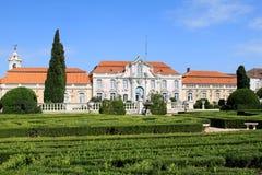 从事园艺国家宫殿葡萄牙queluz 图库摄影