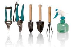 从事园艺的钳工工具 库存照片