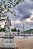 从事园艺tuileries视图 免版税库存图片