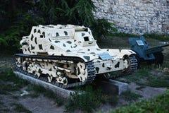 从二战的意大利坦克战争战利品 库存照片
