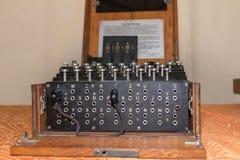 从二战的谜暗号机器 库存图片
