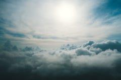 从云彩上的一个看法 免版税库存照片